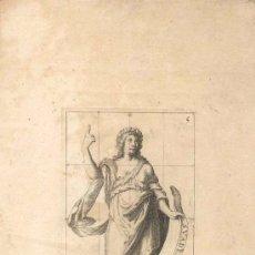 Arte: GRABADO FRANCES POLYMNIA, SIGLO XVI O XVII REPRESENTANDO UNA DE LAS MUSAS DEL ARTE. Lote 31186829