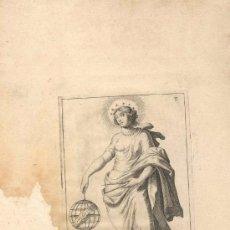 Arte: GRABADO FRANCES URANIA, SIGLO XVI O XVII REPRESENTANDO UNA DE LAS MUSAS DEL ARTE. Lote 31186868