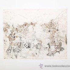 Arte: JORGE CASTILLO / SIN TÍTULO. GRABADO ORIGINAL FECHADO, NUMERADO 37 / 60 Y FIRMADO A LÁPIZ. Lote 31190057