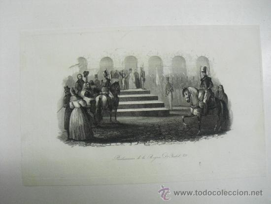 PROCLAMACIÓN DE LA REINA Dª ISABEL 2º (Arte - Grabados - Modernos siglo XIX)