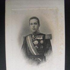 Arte: 1905 GRABADO DEL REY ALFONSO XIII POR BARTOLOME MAURA. Lote 31375470