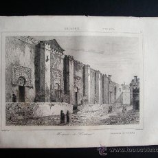 Arte: 1844-FACHADA DE LA MEZQUITA DE CÓRDOBA. GRABADO ORIGINAL. Lote 31544503