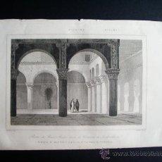 Arte: 1844-BAÑOS ÁRABES.CONVENTO CLARISAS DE TORDESILLAS.VALLADOLID. GRABADO ORIGINAL. Lote 31544903