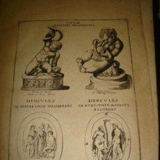 Arte: GRABADO DE HERCULES DRACONICIDA. AÑO 1727. 42 X 30CM. Nº 4. Lote 31571792