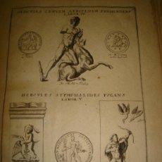 Arte: GRABADO DE HERCULES CERUAM AERIPEDEM PREHENDENS LABOR IV. AÑO 1727. 42 X 30CM. Nº 9 . Lote 31572768