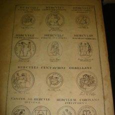 Arte: GRABADO DE HERCULES CENTAUROS DEBELLANS. AÑO 1727. 42 X 30CM. Nº 18. Lote 31572797