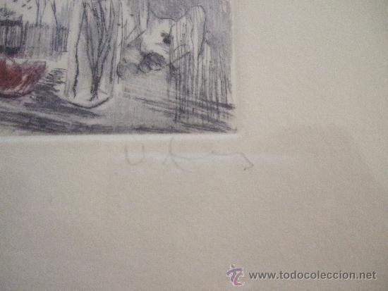 Arte: GRABADO PEQUEÑO BODEGON CON SANDIA - FIRMADO Y NUMERADO - ENMARCADO 29X34,5 - Foto 4 - 31689415