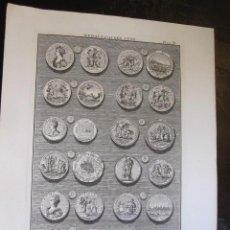 Arte: GRABADO ORIGINAL APROX 1730-MEDALLAS REINA ANA - HISTORIA INGLATERRA TINDALS, BATALLA DE RANDE VIGO.. Lote 31697432