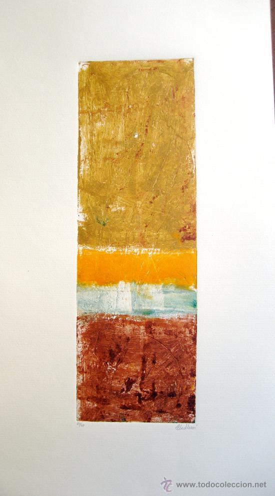 GRABADO ORIGINAL FIRMADO MADHAVÍ (Arte - Grabados - Contemporáneos siglo XX)