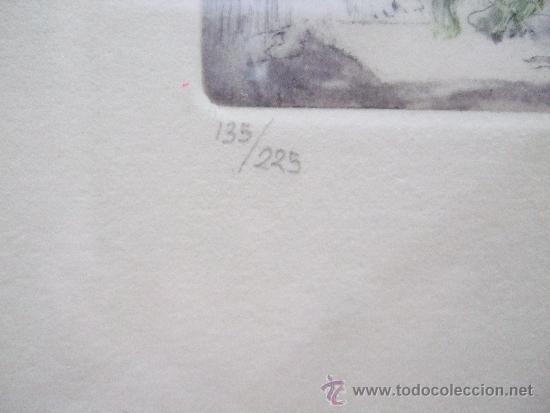 Arte: GRABADO PEQUEÑO BODEGON CON SANDIA - FIRMADO Y NUMERADO 135/225 - ENMARCADO 27X33 - Foto 3 - 31689456