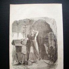 Arte: 1844- ARTILUGIOS DE LA INQUISICIÓN. CAUSAS Y TORTURAS DE LA INQUISICIÓN.ESPAÑA. GRABADO ORIGINAL. Lote 31817558