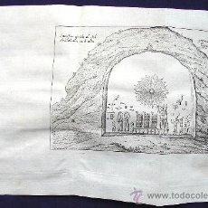 Arte: GRABADO EN LA MONTAÑA DE BABAIN, EGIPTO, A 55 LEGUAS DEL CAIRO. AÑO 1757. Lote 31917744