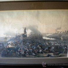 Arte: BONITO GRABADO ILUMINADO,BATALLA FRANCESA 1850'S.. Lote 31955793