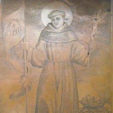 Arte: PLANCHA COBRE GRABADO, SAN JUAN DE CAPISTRANO, S. XVII CAPITÁN TERCIOS EN FLANDES ¿JAN DE BISSCHOP?. Lote 32143295