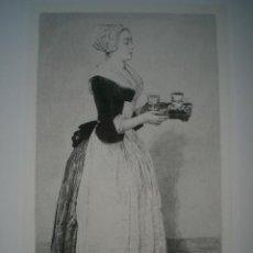 Arte: AGUAFUERTE SOBRE PINTURA DE LIOTARD. (LA CHOCOLATIÈRE), GRABADO POR E. ABOT . Lote 32188177