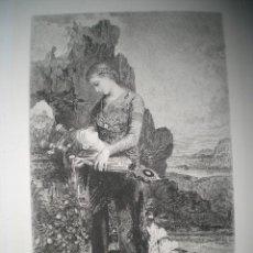 Arte: AGUAFUERTE SOBRE OBRA DE G. MOREAU (ORPHÉE) GRABADO POR AD. LALAUZE. Lote 32189805