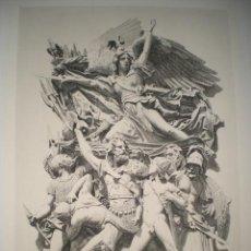 Arte: GRABADO SOBRE GRUPO ESCULTÓRICO DE FRANÇOIS RUDE ( LE DÉPART), GRABADO POR GÉRY-RICHARD.. Lote 32190103