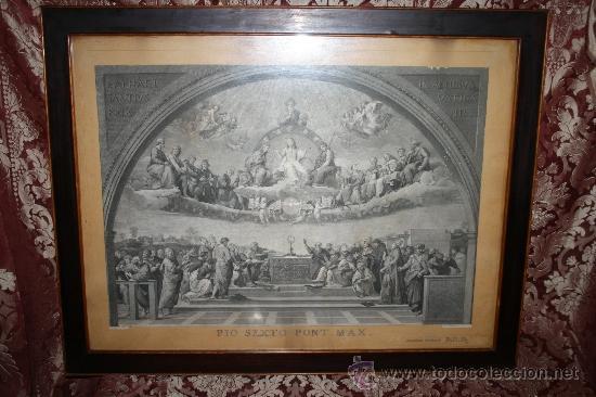 J3-002. PRECIOSO GRABADO ITALIANO DEL S.XVIII POR GIOVANNI VOLPATO. DISPUTA DEL SACRAMENTO (Arte - Grabados - Antiguos hasta el siglo XVIII)