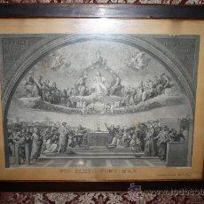 Arte: J3-002. PRECIOSO GRABADO ITALIANO DEL S.XVIII POR GIOVANNI VOLPATO. DISPUTA DEL SACRAMENTO. Lote 32212725