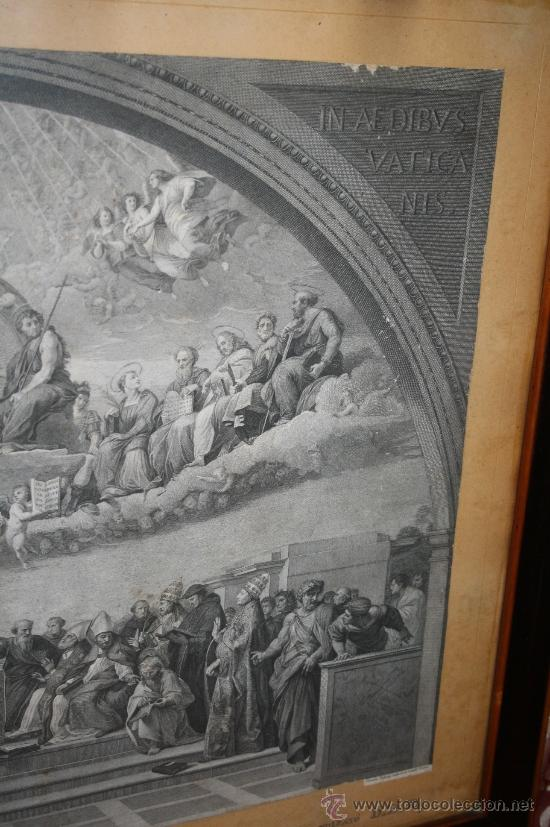 Arte: J3-002. PRECIOSO GRABADO ITALIANO DEL S.XVIII POR GIOVANNI VOLPATO. DISPUTA DEL SACRAMENTO - Foto 4 - 32212725