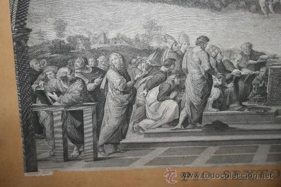 Arte: J3-002. PRECIOSO GRABADO ITALIANO DEL S.XVIII POR GIOVANNI VOLPATO. DISPUTA DEL SACRAMENTO - Foto 8 - 32212725