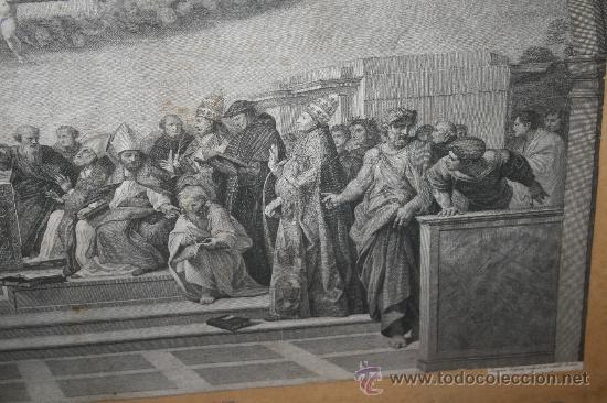 Arte: J3-002. PRECIOSO GRABADO ITALIANO DEL S.XVIII POR GIOVANNI VOLPATO. DISPUTA DEL SACRAMENTO - Foto 10 - 32212725