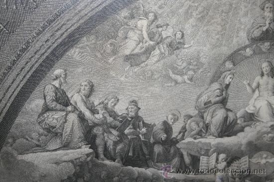 Arte: J3-002. PRECIOSO GRABADO ITALIANO DEL S.XVIII POR GIOVANNI VOLPATO. DISPUTA DEL SACRAMENTO - Foto 11 - 32212725