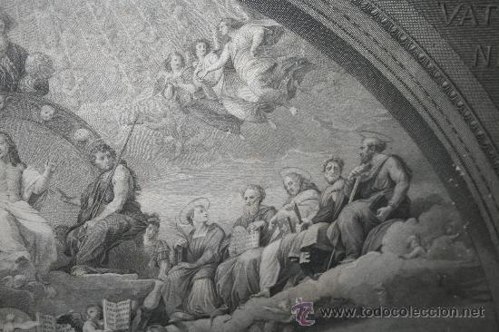 Arte: J3-002. PRECIOSO GRABADO ITALIANO DEL S.XVIII POR GIOVANNI VOLPATO. DISPUTA DEL SACRAMENTO - Foto 12 - 32212725