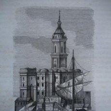 Arte: CATEDRAL DE MALAGA.GRABADO DE 1845.11X7. Lote 32291005