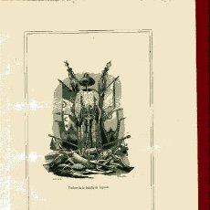 Arte: GRABADO SIGLO XIX TROFEOS DE LA BATALLA DE LEPANTO 19,5X 27 CM. Lote 32342053