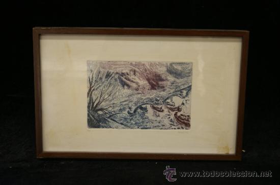 DIOGENE. GRABADA FIRMADO Y MARCADO PA. (Arte - Grabados - Contemporáneos siglo XX)