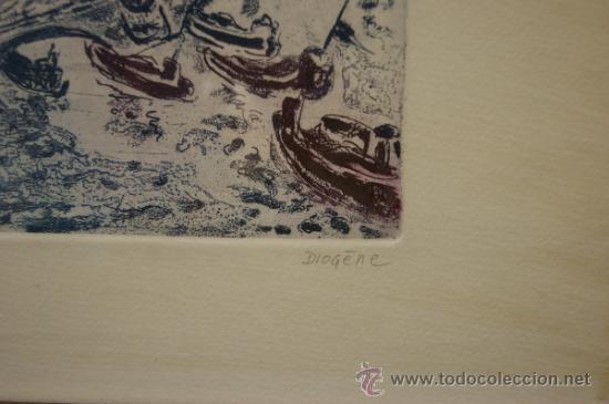 Arte: Diogene. Grabada firmado y marcado PA. - Foto 3 - 32605684