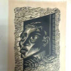 Arte: GRABADO DE POMPEYO AUDIVERT. 1947. (ESTARTIT 1900 - BUENOS AIRES 1977) EPOCA MEXICANA. 25 X 21 CM. . Lote 27276064
