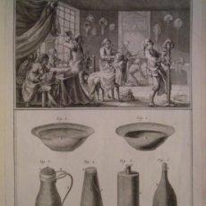 Arte: 12 MAGNIFICOS GRABADOS S. XVIII DE PELUQUERIA, BARBERO, DE LA ENCICLOPEDIA DE DIDEROT AÑO 1771,. Lote 32602568