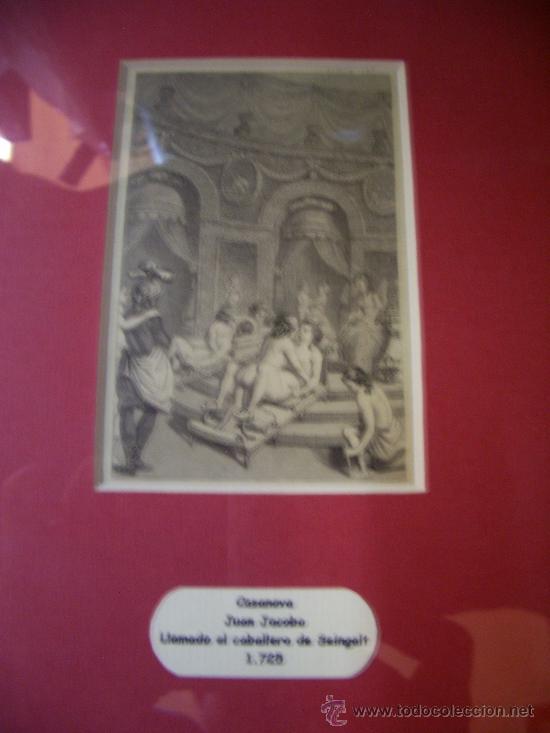CONJUNTO DE TRES GRABADOS EROTICOS 1725 (Arte - Grabados - Antiguos hasta el siglo XVIII)