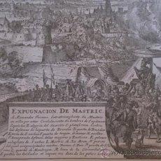 Arte: GRABADO MILITAR - EXPUGNACION DE MASTRIC - LAS GUERRAS DE FLANDES.. Lote 82851819