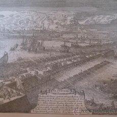 Arte: GRABADO MILITAR - EL PUENTE DE FARNESE - LAS GUERRAS DE FLANDES.. Lote 82851783