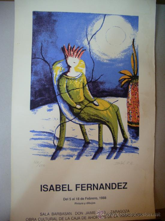 ISABEL FERNANDEZ GRABADO (Arte - Grabados - Contemporáneos siglo XX)