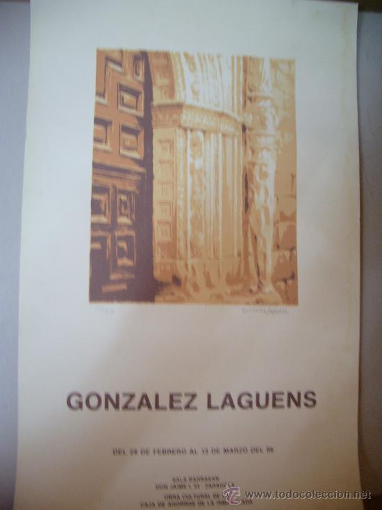 GONZALEZ LAGUENS GRABADO (Arte - Grabados - Contemporáneos siglo XX)