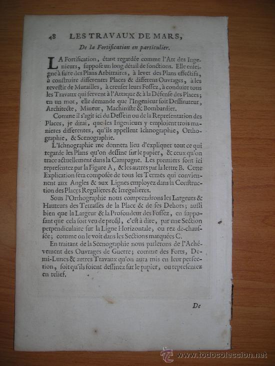 Arte: Diferentes tipos de fortalezas, Mallet, 1696 - Foto 2 - 33322229