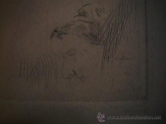 Arte: antiguo grabado francés abuela con rosario - Foto 5 - 33420389