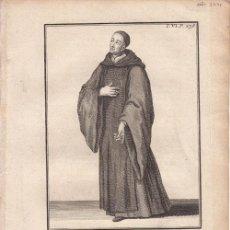 Arte: GRABADO ORIGINAL. BENEDICTINO DE LA CONGREGACIÓN DE VALLADOLID - AÑO 1721 - 25 X 18,5 CM.. Lote 33657055