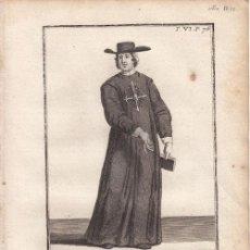 Arte: GRABADO ORIGINAL. HERMANO HOSPITALARIO DE BURGOS - AÑO 1721 - 25 X 18,5 CM.. Lote 33657085