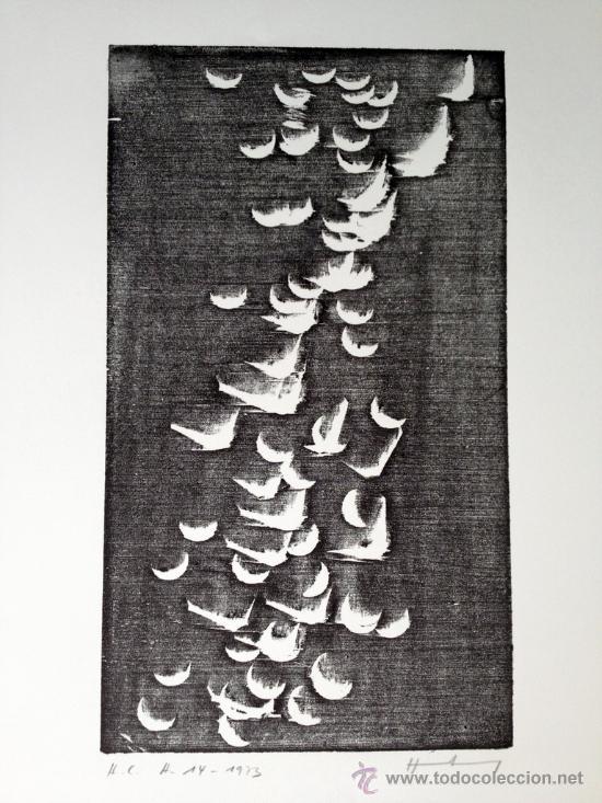 HARTUNG, H (1904-1989). XILOGRAFIA. RIVES. NUMERADA Y FIRMADA. 1973. H14 (Arte - Grabados - Contemporáneos siglo XX)
