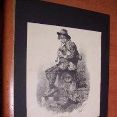Arte: GRABADO 1883 - UN IDILIO - ENRIQUE SERRA, ILUSTRADOR. Lote 47010952
