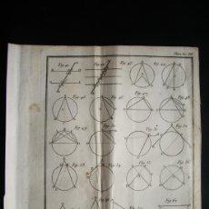 Arte: 1767-GRABADO. MATEMÁTICAS.ÁLGEBRA.GEOMETRÍA.PARÍS.ORIGINAL. Lote 34001006