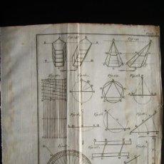 Arte: 1767-GRABADO. MATEMÁTICAS.ÁLGEBRA.GEOMETRÍA.PARÍS.ORIGINAL. Lote 34001024