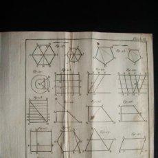 Arte: 1767-GRABADO. MATEMÁTICAS.ÁLGEBRA.GEOMETRÍA.PARÍS.ORIGINAL. Lote 34002777