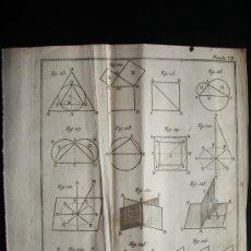 Arte: 1767-GRABADO. MATEMÁTICAS.ÁLGEBRA.GEOMETRÍA.PARÍS.ORIGINAL. Lote 34002786