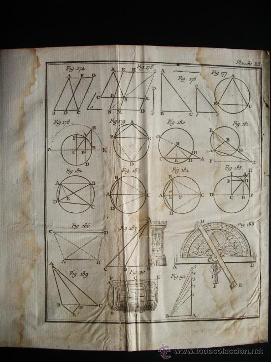 1767-GRABADO. MATEMÁTICAS.ÁLGEBRA.GEOMETRÍA.PARÍS.ORIGINAL (Arte - Grabados - Antiguos hasta el siglo XVIII)